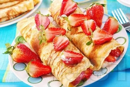 Палачинки с ягоди и маскарпоне - снимка на рецептата